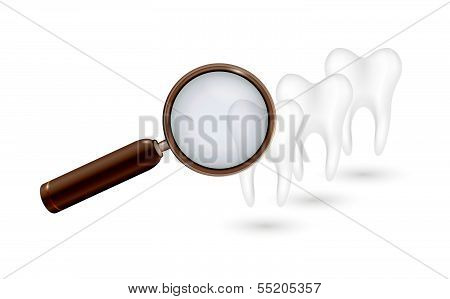 Magnifying Glass And White Teeth