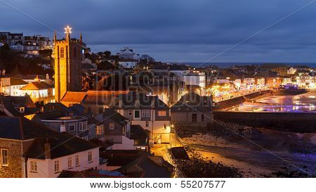 Dusk Overlooking St Ives Cornwall