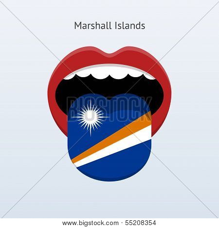 Marshall Islands language. Abstract human tongue.