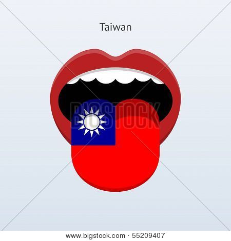 Taiwan language. Abstract human tongue.