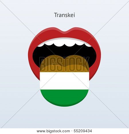 Transkei language. Abstract human tongue.