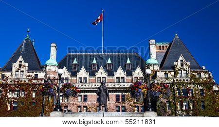 Historic Empress Hotel Victoria British Columbia Canada
