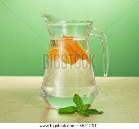 Cold drink and spearmint