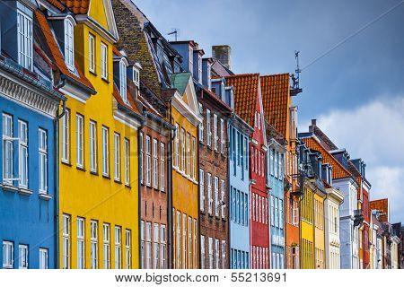 Nyhavn buildings in Copenhagen, Denmark.