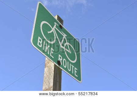 Bike Route street sign
