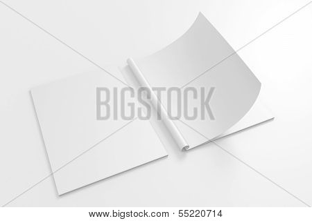 Blank Full Turn Magazine Isolated On White