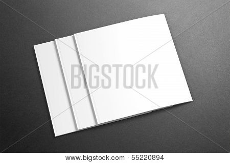 Blank Square Magazine / Brochure On The Grunge Background