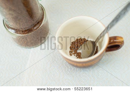 Instant Coffee In The Cup