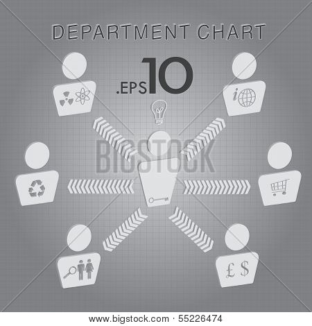 Organizational Department Chart Vector