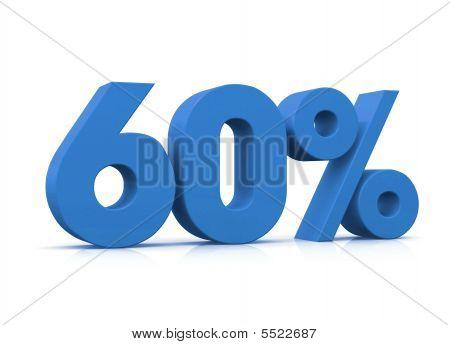 Percentual, 60 %