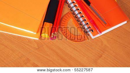 Orange school accessories