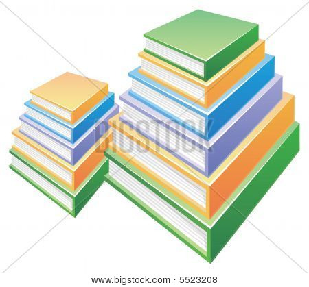 Two Pile Of  Books