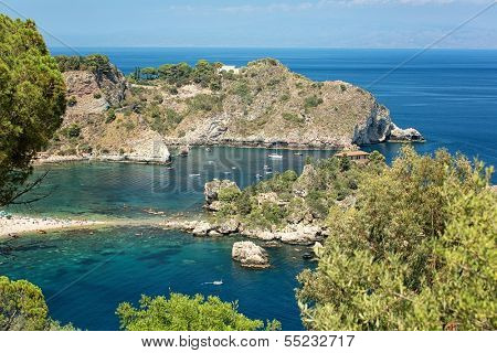 Isola bella beach, near Taormina