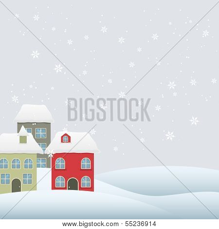 vector chritmas winter seasonal holiday background with space for your text