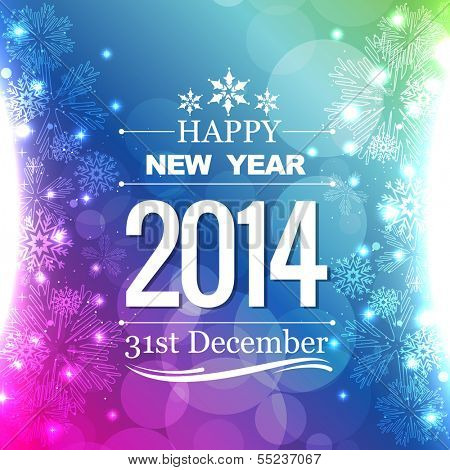 happy new year 2014 flyer style design