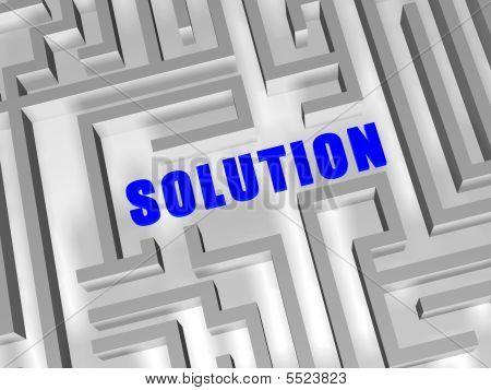 Blaue Lösungin labyrinth