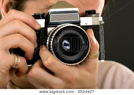 Closeup Of A Classic Photographer
