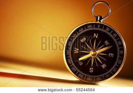 Brass Magnetic Compass