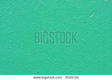 Green Stucco Wall