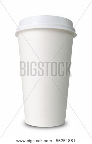 Paper Cup Before White Background