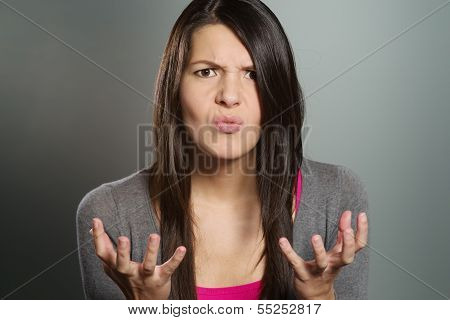 Young Woman With A Horrified Expression