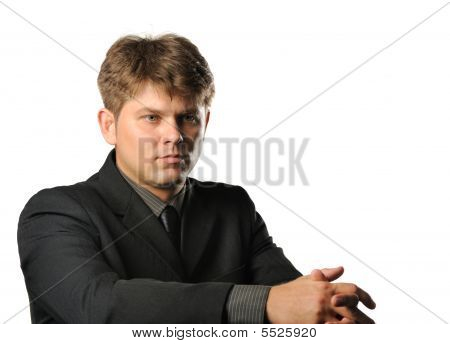 The Young Businessman In Bad Mood