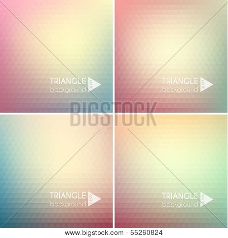 Abstract triangle backgrounds set - eps10
