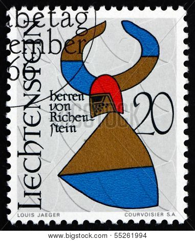 Postage Stamp Liechtenstein 1966 Arms Of Barons Of Richenstein