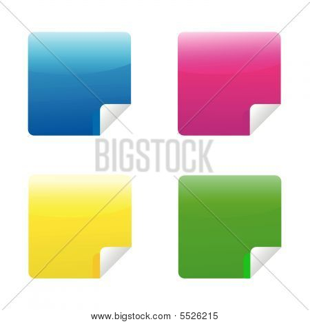 Set Of Multicolored Stickers