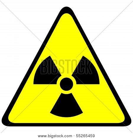 Radiation Triangular Sign