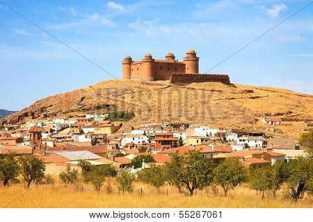 Castle On Hill, Castillo De La Calahorra And Village, Granada, Andalusia, Spain