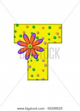Alphabet Zany Dots T