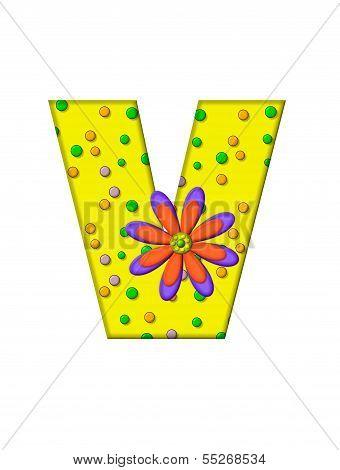 Alphabet Zany Dots V