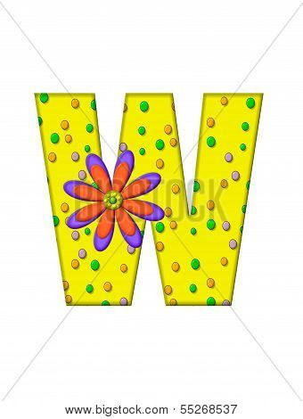Alphabet Zany Dots W