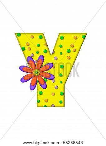 Alphabet Zany Dots Y