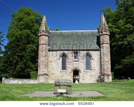 Scotland Scone Palace Chapel And Stone Of Destiny
