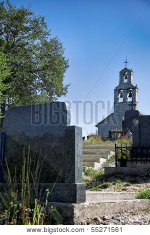 Church and cemetery in Montenegro