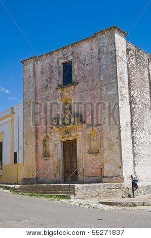 Church of Immaculate. Felline. Puglia. Italy.