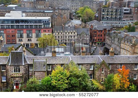 Aerial view of Edinburgh, Scotland, UK