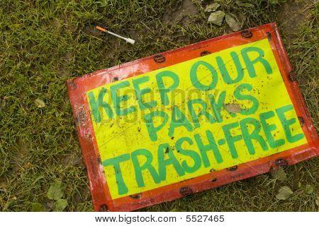 Manter nossos parques livre de lixo