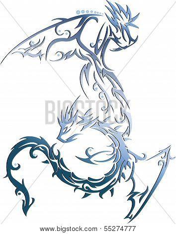 Blue Sea Dragon Flying