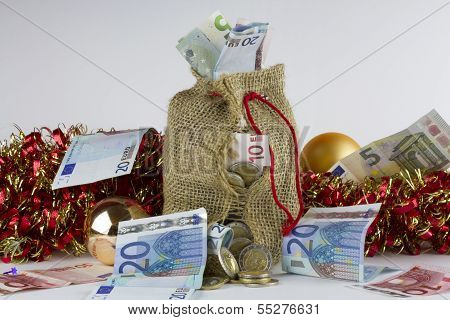 Christmas money bag