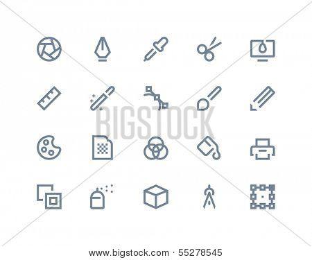 Graphic design icons. Line series