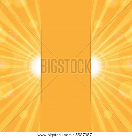 Orange Sunny Background