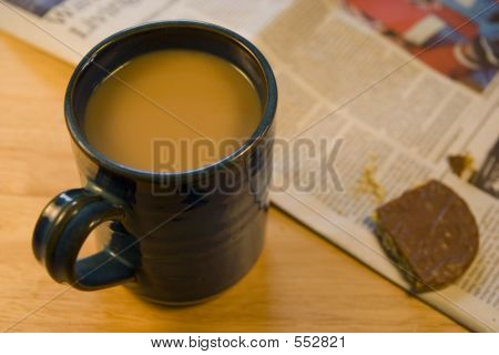 Coffee, Biscuit & Newspaper.
