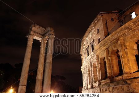 Theatre Of Marcellus In Rome