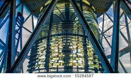 Sunlight Shining Through A Lighthouse Lantern