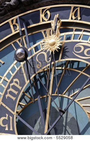 Detail Of Astronomical Clock, Prague