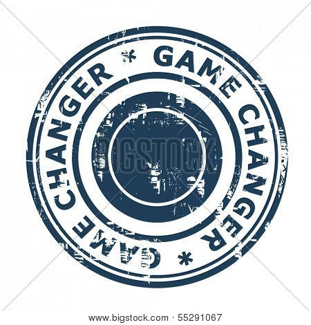 Game Changer business stamp isolated on a white background.