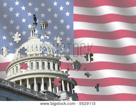 Nos Capitolio con bandera